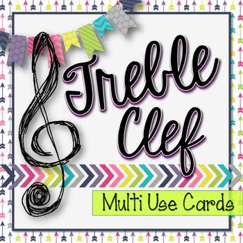 Treble Clef Multi Use Practice Cards