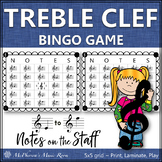 Treble Clef Music Bingo Game