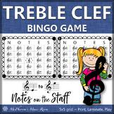 Treble Clef Music Bingo Game