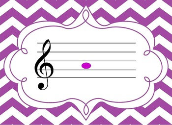 Treble Clef Music Flash Cards - Powerpoint & PDF