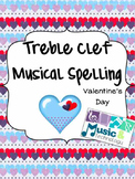 Treble Clef Music Note Spelling- Valentine's Day