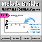 FREE PRINTABLE & DIGITAL Treble Clef Music Staff   Manipul