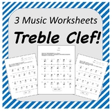 Treble Clef Music Worksheets