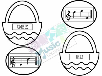 Treble Clef Music Note Spelling- Easter