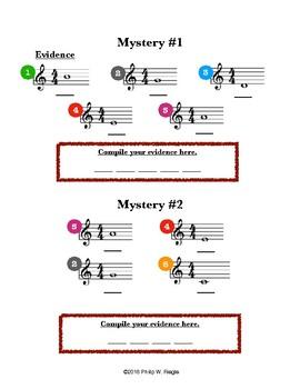 Treble Clef Mystery Activity