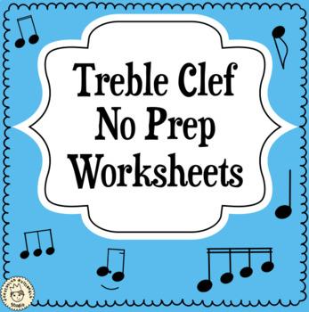 Treble Clef No Prep Worksheets