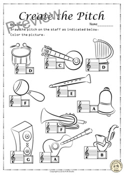 Treble Clef No Prep Worksheets