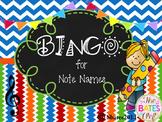 BINGO Treble Clef Note Names