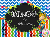 BINGO Treble Clef Note Names