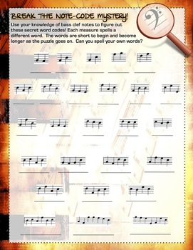 Bass Clef Note Code