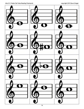 Treble Clef Note Fashcards