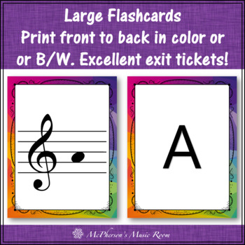 Treble Clef Note Name Flash Cards