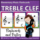 Treble Clef Note Name Flashcards & Music Room Décor