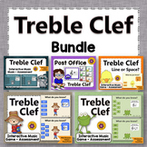 Treble Clef Note Name Games {Elementary Music Activities} Bundle
