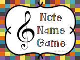Treble Clef Note Name Power Point Game!
