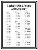 Treble Clef Note Name Printable Worksheet (FACE & EGBDF)