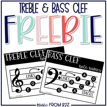 Treble & Bass Clef Note Name FREEBIE