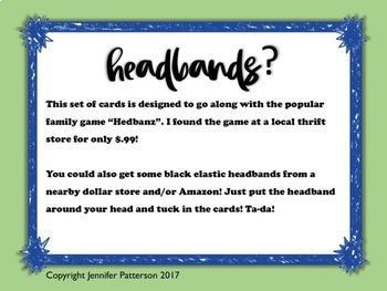 Treble Clef Note Names Headbands Game