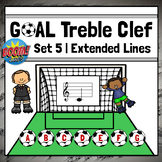 Treble Clef Note Names Game   Boom Cards Set 5 - EXTENDED LINES