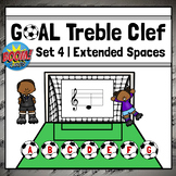 Treble Clef Note Names Game   Boom Cards Set 4 - EXTENDED SPACES