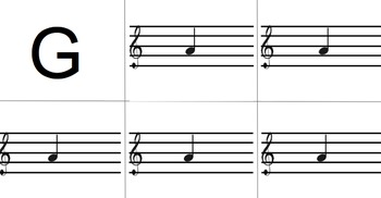 Treble Clef Note Names Sorting