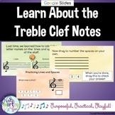 Treble Clef Note Naming Basics Google Slides