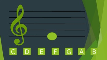 Treble Clef Note Reading Drills - Middle C, D & E
