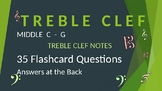 Treble Clef Note Reading Drills - Middle C to G - answers