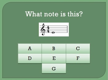 Treble Clef Note Recognition Interactive Game