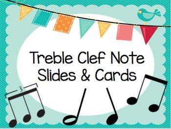 Treble Clef Notes & Intervals Activity