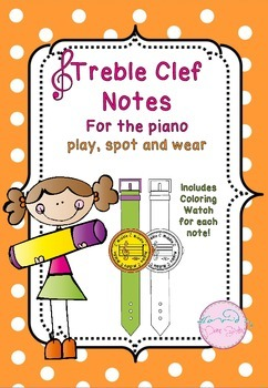 Treble Clef Notes for the piano (Play, Spot and Wear!)