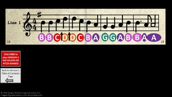 Case of the Tuneful Time Traveler - Boomwhacker Treble Clef Game PPT