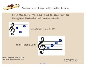 """Music Detective #1 """"Case of the Missing Manuscript"""" Treble Clef Smart Notebook"""