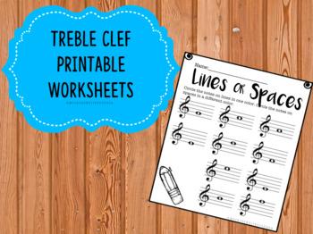 Treble Clef Printable Worksheets