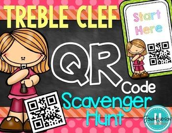Treble Clef QR Code Scavenger Hunt