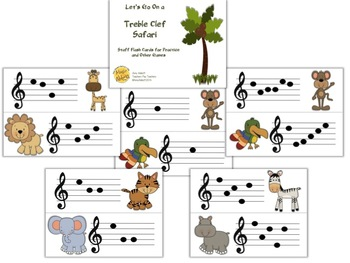 Treble Clef Safari: Games, Activities & Worksheets for Teaching the Treble Clef