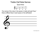 Treble Clef Space Faces