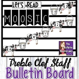 Treble Clef Staff Display Let's Read MOOSIC