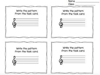 Treble Clef Task Cards