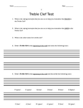 Treble Clef Test