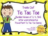 Treble Clef Tic Tac Toe Games: Bundled Set of Games