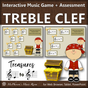 Treble Clef Treasures: Interactive Music Game & Assessment