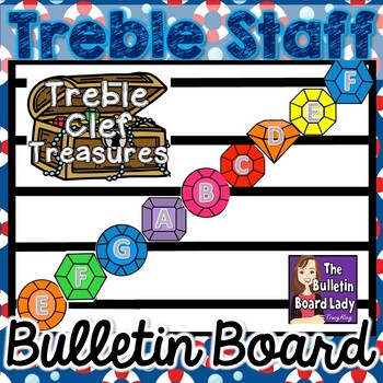 Treble Clef Treasures-Treble Clef Staff Display