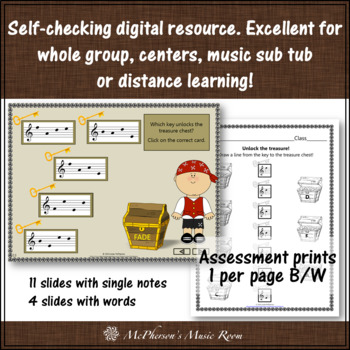 Treble Clef Treasures with ledger lines: Interactive Music Game & Assessment