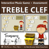 Treble Clef Treasures with ledger lines {Interactive Music Game & Assessment}
