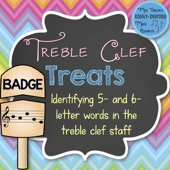 Treble Clef Treats: Identifying 5- and 6-Letter Words in the Treble Clef Staff