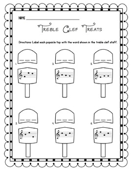 Treble Clef Treats: Identifying Three-Letter Words in the Treble Clef Staff