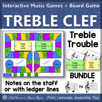Treble Clef Note Names Bundle Interactive Music Game {Treble Trouble}