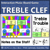 Treble Clef Treble Trouble {Interactive Music Game for reviewing note names}