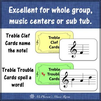 Treble Clef Note Names Interactive Music Game {Treble Trouble}